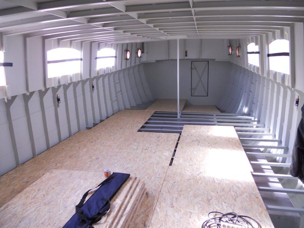 Werkvloer schip Eiland